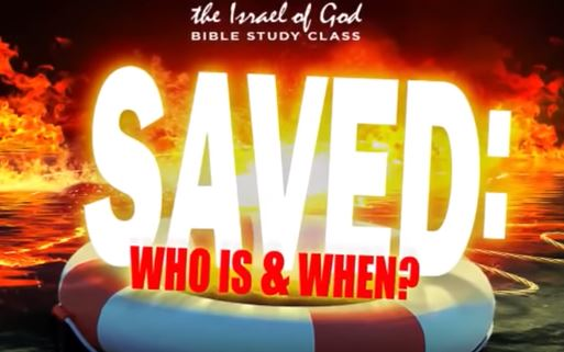 "Graphic with the title ""Saved: Who Is & When?"" in a circular lifesaver, floating in flamed water."