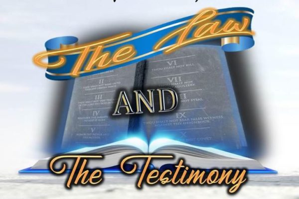 """Israel of God, Riverdale, graphic title of """"The Law and The Testimony"""""""