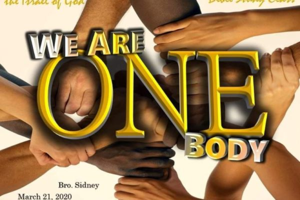 "Bro. Sidney teaches Sabbath day lesson ""We Are One Body"""